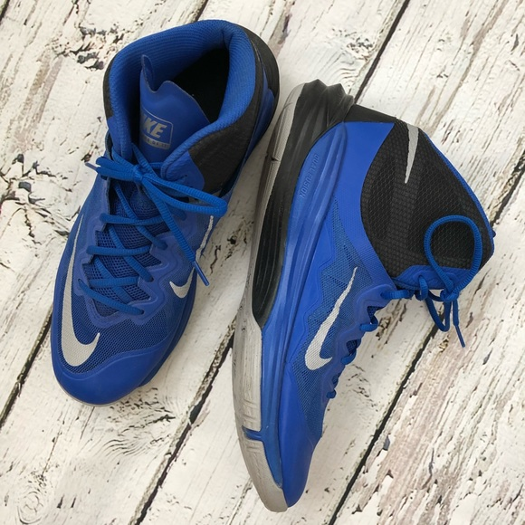 watch 78ab2 31f1a Nike Prime Hype DF Black Blue 13 Basketball Shoes